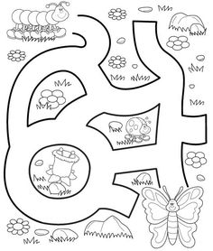 Crafts,Actvities and Worksheets for Preschool,Toddler and Kindergarten.Free printables and activity pages for free.Lots of worksheets and coloring pages. Preschool Education, Preschool Worksheets, Preschool Learning, Preschool Activities, Teaching, Mazes For Kids, Crafts For Kids, Infant Activities, Book Activities
