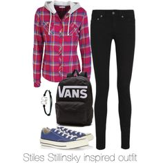 """Stiles Stillinsky inspired outfit/Teen Wolf"" by tvdsarahmichele on Polyvore"