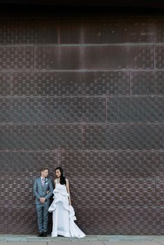 That dress. That wall.     Buena Lane Photography  |  dress: loho bride planning: @lilyspruce