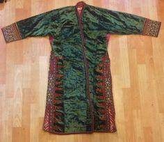 Turkmenische samt Kaftan handgemachte ethnische von akcaturkmen