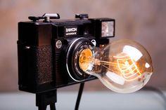 Photo Camera Lamp / Retro Light / Nightlight Lamp / Table decor / Bedroom Decor Lamps / Vintage Lamp / Floor Lamp /