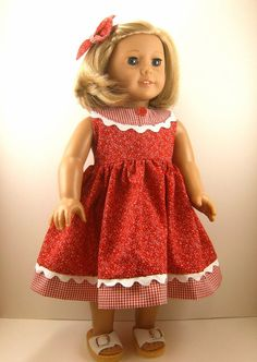 Fits American Girl Doll Clothes 18 Inch Red and by dressurdolly2, $22.00