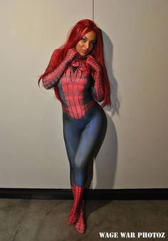 Cosplayer: Soni Aralynn Character: Mary Jane Spider-Woman From: Spider-Woman Photographer: Wage War Country: USA
