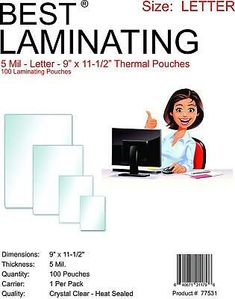 Details About Best Laminating 5 Mil Letter Laminating 9 X 11 5 Inches 1000 Clear Pouches Interactive Learning Lettering Teaching