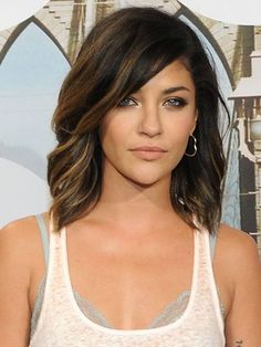 Jessica Szohr - dark brown and caramel hair, love this! Think I've found my look for next salon trip :) by MARICELA CORPUS NERIO