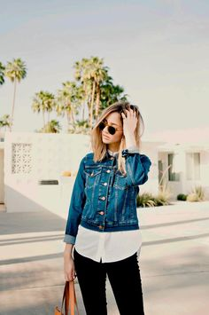 @jess_hannah, all buttoned up in her Levi's Trucker Jacket.