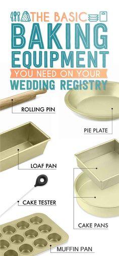 The Essential Wedding Registry Checklist For Your Kitchen wedding checklist The Essential Wedding Registry List For Your Kitchen Cooking Equipment, Kitchen Equipment, Cooking Tools, Basic Cooking, Cooking Utensils, Wedding Registry Checklist, Bridal Registry, Gift Registry, Wedding Tips