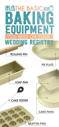 Basic Cooking Equipment.  The Essential Wedding Registry Checklist For Your Kitchen