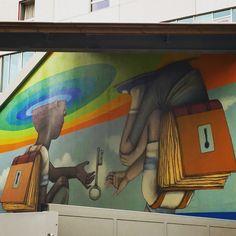Les clés de l'éducation par @seth_globepainter #seth #sethglobepainter #streetart #graffiti #graff #streetartistry #streetartist #streetarteverywhere #graffitiart #graffitiporn #graffitiigers #spray #spraypaint #sprayart #bombing #wall #wallporn #urbanart #instagraff #instagraffiti #nirindastreet Av de France #paris