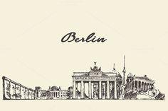 Berlin skyline by grop on @creativemarket
