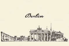 Berlin skyline by grop on @creativemarket