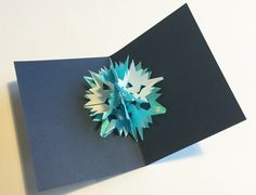 DIY:Pop-Up Snowflake Card - tutorial by Helen Hiebert