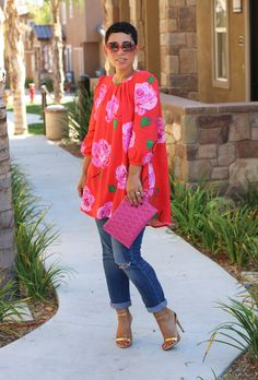 DIY FLORAL TOP + PATTERN REVIEW V8977 - Mimi G Style