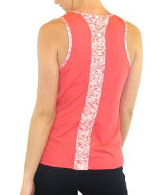 Look what I found on #zulily! Coral Rose Shirred Inspire Tank - Women & Plus by Ryka #zulilyfinds
