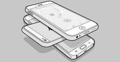 Mobile Mockup PSD: 50 items, Line Style. - Design Shock