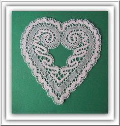 Lace Heart, Lace Jewelry, Lace Making, Bobbin Lace, Irish Crochet, Crochet Earrings, Lace Detail, Fiber Art, Butterfly