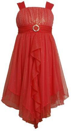 Bonnie Jean Tween Girls 7-16 Ruffle Front Asymmetric Hem Glittered Mesh Dress Bonnie Jean, http://www.amazon.com/dp/B00B5MSHKW/ref=cm_sw_r_pi_dp_jNldrb0CHHRQG