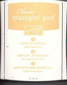 Stampin Up Apricot Appeal Classic Stamp Pad Stamp Pad, Ink Pads, Stampin Up, Personalized Items, Classic, Ink, Derby, Stamping Up, Classic Books