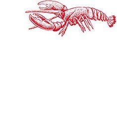 Lobster Rubber Stamp