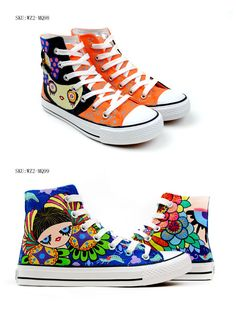 Margaret Princess hand painted shoes
