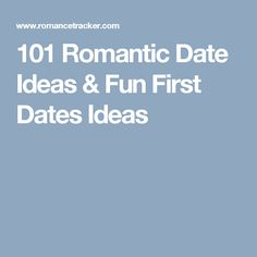 Fun first date ideas