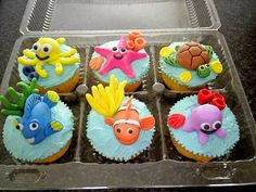 """Finding Nemo"" Cupcakes by Treasures and Tiaras Kids Parties, via Flickr"