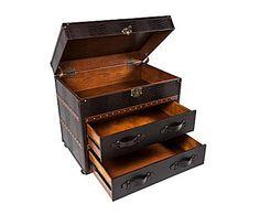 Baúl de madera y polipiel I
