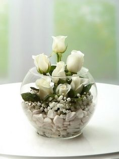Balikesir Flower White Rose Arrangement- Balıkesi̇r Flowers – Flowers Online – Send Flower To Balıkesir Flower White Rose Arrangement - Deco Floral, Floral Design, Floral Centerpieces, Wedding Centerpieces, Modern Flower Arrangements, Flowers Online, Amazing Flowers, Flower Vases, Diy Flower