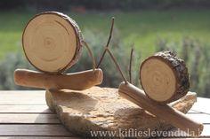 Kifli és levendula: Csigák fából, egyszerűen