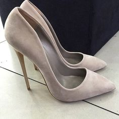 Cheap shoe lamp, Buy Quality shoe shelf directly from China shoes dc Suppliers: Hot selling suede high heel shoes pointed toe slip-on stiletto heels women pumps 2017 spring autumn single shoes size 34 to 42 Pretty Shoes, Beautiful Shoes, Cute Shoes, Me Too Shoes, Suede Pumps, Pumps Heels, Stiletto Heels, Grey Heels, Flats