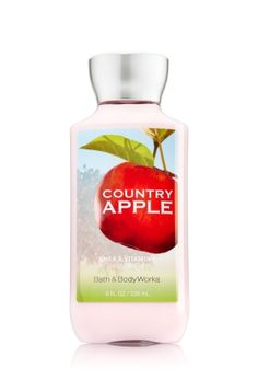 Country Apple - Body Lotion - Signature Collection - Bath & Body Works - America's #1 Body Lotion! Infused with Shea Butter and our exclusive Daily Moisture Complex, our enhanced lotion contains more of what skin loves, leaving it feeling incredibly soft, smooth and nourished. Fortified with nutrient-rich ingredients like protective Vitamin E and conditioning Vitamin B5, our fast-absorbing, non-greasy formula delivers 16 hours of continuous moisture.