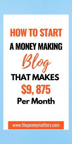 Make Money Blogging, Make Money From Home, Money Tips, Way To Make Money, Make Money Online, Earn Money, Start A Business From Home, Starting A Business, Start Online Business