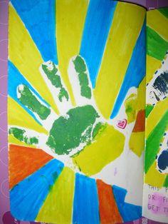 This page is for handprints, la mano de Santi