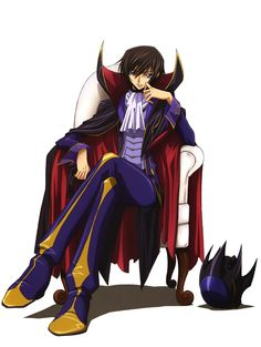 "Lelouch obtains this power called ""geass"" from a strange girl called C.C. and uses it to his advantage."