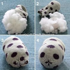 Sew your own sock owl by using this ultimate pattern and tutorial. Easy to sew with guide from pictures and instructions. Owl Sewing Patterns, Felt Doll Patterns, Sock Crafts, Diy Crafts For Gifts, Sewing Toys, Free Sewing, Owl Socks, Sock Toys, Owl Pet