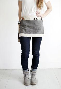 DIY: waxed canvas tool apron
