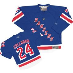 Reebok New York Rangers Ryan Callahan Youth (8-20) Replica Home Jersey Large/X Large by Reebok. $64.97. Young fans will have a blast rooting for the team in this New York Rangers Ryan Callahan Reebok® youth replica home jersey. It's made of breathable polyester interlock mesh fabric and designed with screen-printed player and team graphics on the chest, back, and sleeves. A woven locker tag is featured on the lower left front above the hem for an authentic look.