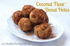These coconut flour donut holes are such a fun recipe and really easy to make! They would be a great recipe to make with kids for a birthday party or special brunch.