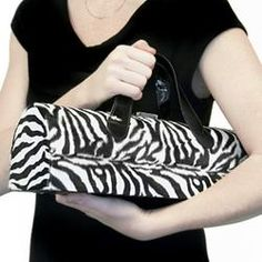 Black Patent Zebra Wine Tote  $29.95  Even better a zebra one!