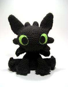 Free Pattern is located here: http://sarselgurumi.blogspot.com/2011/05/toothless-amigurumi-pattern.html