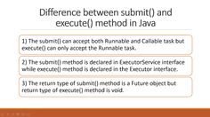 Difference between ExecutorService.submit() and Executor.execute() methods in Java? Multi Threading, Data Structures, Interview Questions, Java, Coding, This Or That Questions, Programming