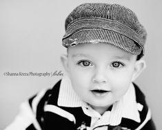 1st birthday photos idea - simple b+w portraits