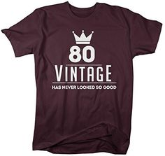 This is the perfect shirt to celebrate your 80th birthday in! Let everyone know 80 has never looked so good in this hilarious birthday tee. It features a 'birthday crown' and reads '80 has never looke