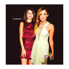 miley cyrus and selena gomez ❤ liked on Polyvore featuring selena gomez, miley cyrus, people, selena and celebrities