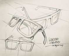 Structural Drawing, Technical Drawing, Pencil Art Drawings, Art Sketches, Drawing Techniques, Drawing Tips, Glasses Sketch, Interesting Drawings, Isometric Drawing