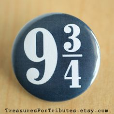 Platform 9 3/4, Harry Potter Pinback Button, Hogwarts Express Train Pinback Button, Hogwarts Pin, Muggle Pinback Button, Blue Pinback Button on Etsy, $1.70
