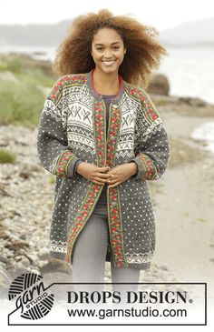 Nordic - Free knitting patterns and crochet patterns by DROPS Design Fair Isle Knitting Patterns, Sweater Knitting Patterns, Knitting Designs, Crochet Patterns, Drops Design, Vintage Knitting, Free Knitting, Knitted Jackets Women, Norwegian Knitting