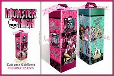 "Cajas para Cotillones Personalizadas ""Monster High"" | Lythium Art® Design by: Yil Siritt"