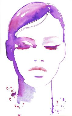 Print of Fashion Illustration, Watercolor Fashion Illustration. Titled - eyeswideshut