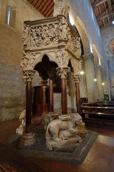 Pistoia - Pieve di Sant'Andrea c.) - Pulpit by Giovanni Pisano Pisa, Painting, Art, Italia, Art Background, Painting Art, Kunst, Paintings, Performing Arts